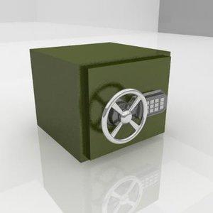 3d safe lock model