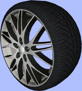 3dsmax cms c8 rim wheel