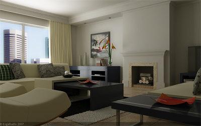 3ds max scene livingroom