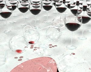 3d model wine glasses