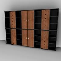 office cabinet set 3ds