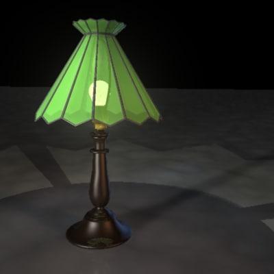 3d glass table lamp model