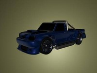 free sport pickup 3d model