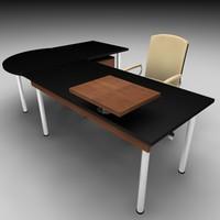 office chair set 3d 3ds