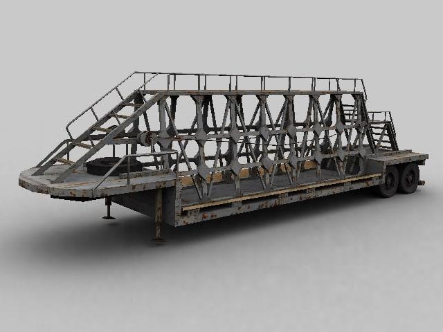 trailer transportation plates 3d model