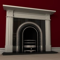 3d model v-ray fireplace