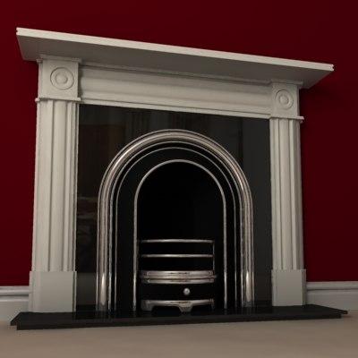 3d model v-ray fireplace