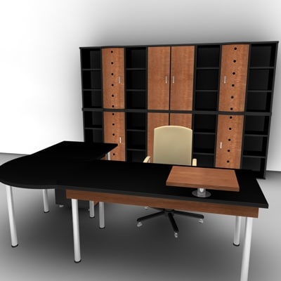 office cabinet chair 3d model