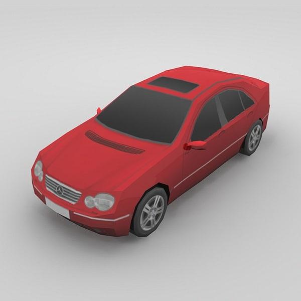 3d car mercedes