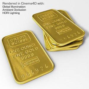 gold rich 3d model