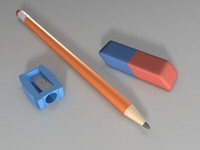 3d office tool pencil sharpener