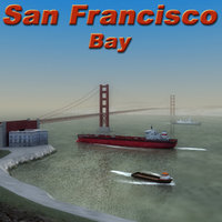 3ds max multi san francisco bridge