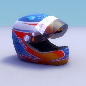 3d model racing driver equipment