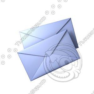 3d envelopes icon design