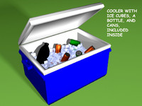 cooler ice drinks 3d model