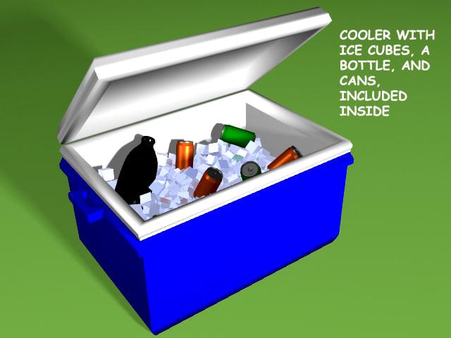 cooler ice drinks 3d model