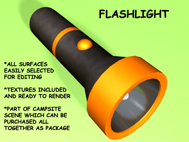 3d flashlight camping
