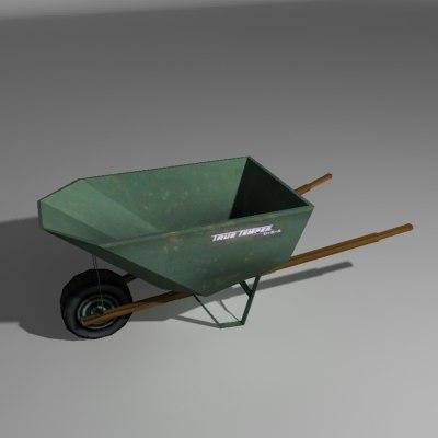 wheel barrel 3d model