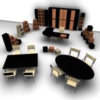 3d model office set