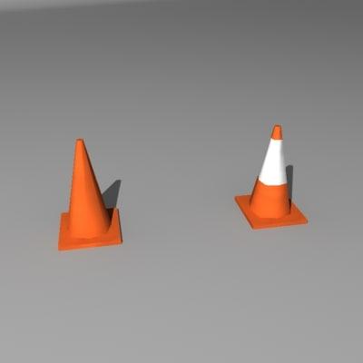 traffic cones 3d model