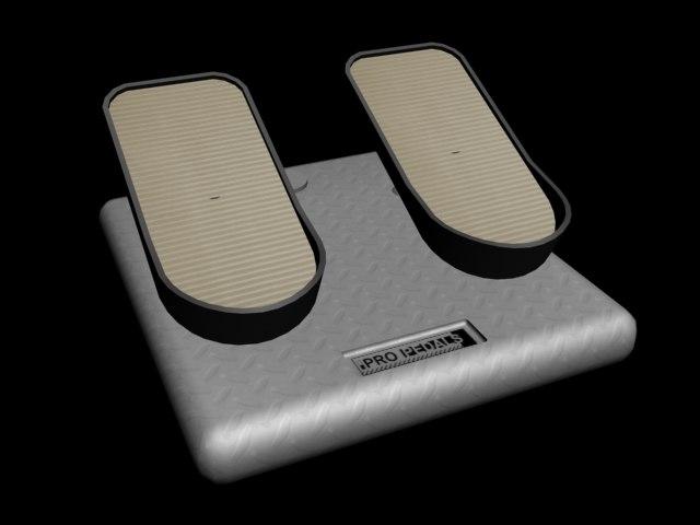 aircraft flight pedals 3d max