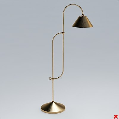 lamp standing 3d 3ds