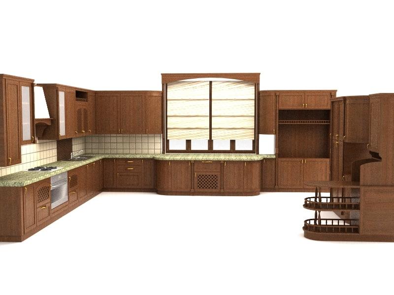 kitchen jasmin 3d model