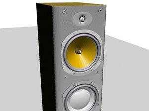 3d model speakers floorstanding