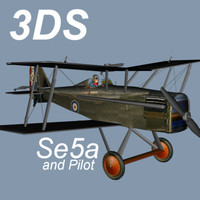 SE5a Royal Aircraft Factory Scout Experimental 5a in 3DS Format