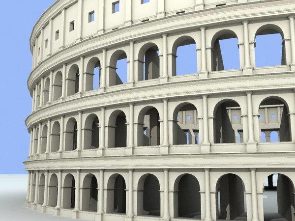 3d colosseum unique buildings