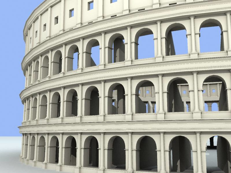 3d colosseum unique buildings