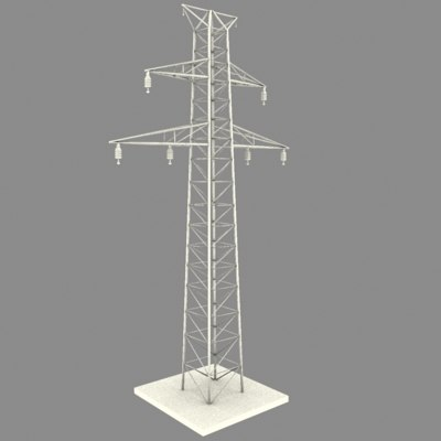 power tower line 3d model