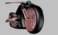 3d heavy street motorcycle model