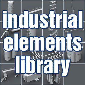 industrial elements library 3d model