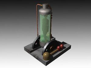 3d sci-fi cryogenic