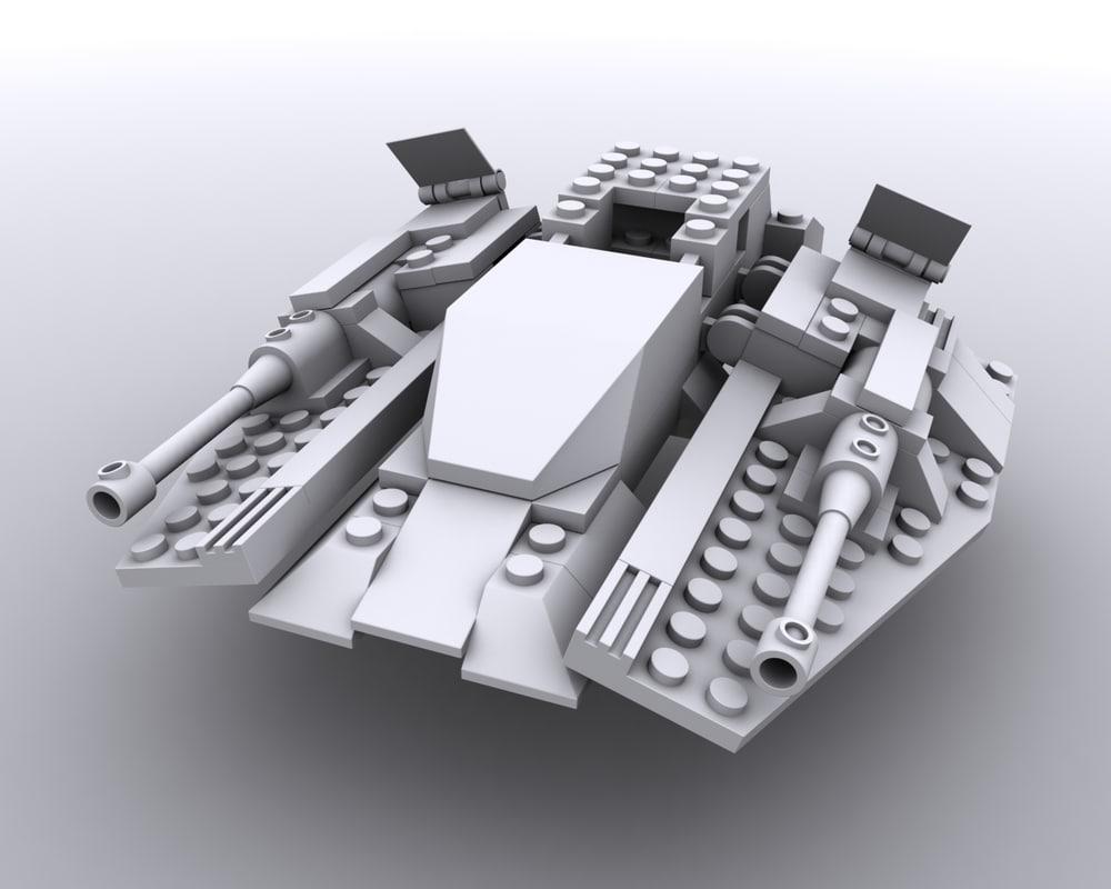 lego jet 3d model