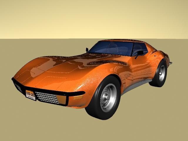 3d corvette model