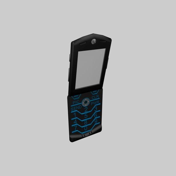 motorola phone 3d model
