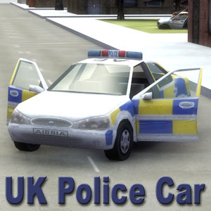 3d model uk police patrol car