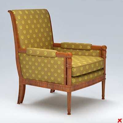 armchair old fashioned 3d 3ds