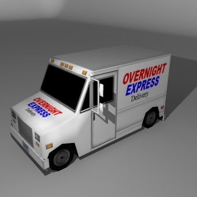 express delivery truck 3d max