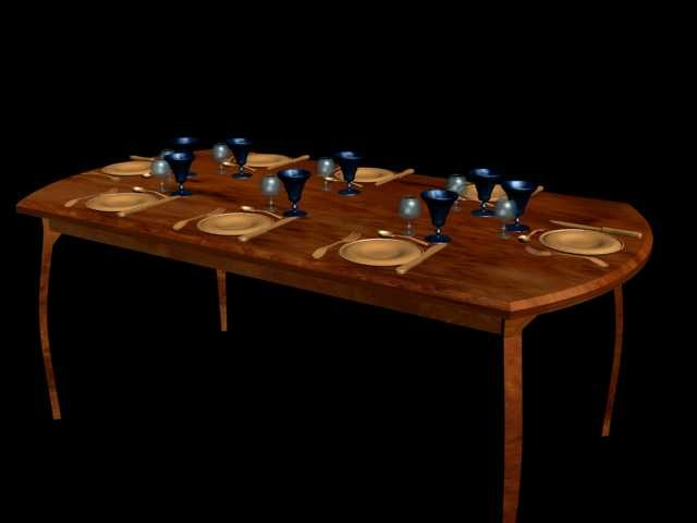 3ds max table dinner