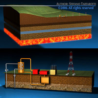 geotermic power plant 3d model