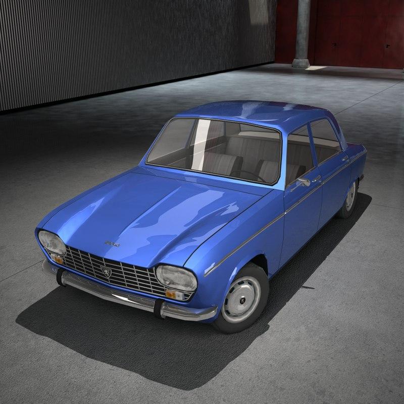 3d model 1965 peugeot 204