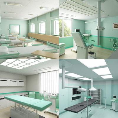 3d examination hospital model