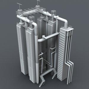 industrial element obj