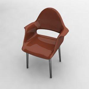 organic chair 3d obj