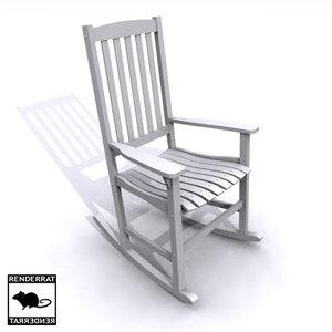 3d model rocking chair