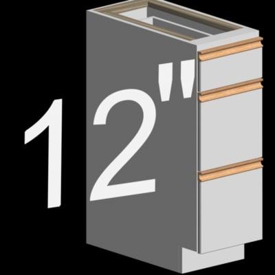 12 inch kitchen base 3d model