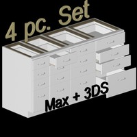 max white 4 drawer kitchen